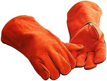 GRIPSTER rojo de seguridad para soldar guante de cocina para horno guantes, talla L: Amazon.es: Bricolaje y herramientas