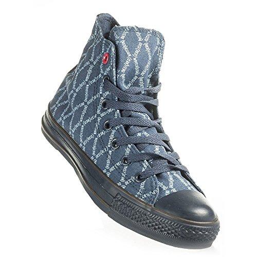 - Converse - CT Spec Red HI - 102454 - Color: Blue-Navy Blue - Size: 5.5