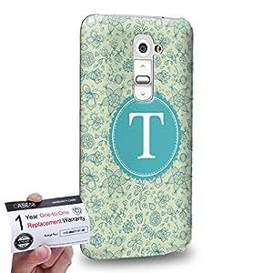 Case88 [LG G2] 3D impresa Carcasa/Funda dura para & Tarjeta de garantía - Art Typography Fashion Alphabet T Style