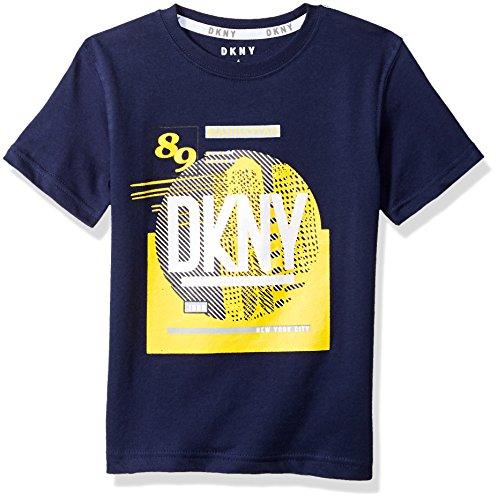 DKNY Boys Little Short Sleeve Crew Neck City in a Circle T-Shirt