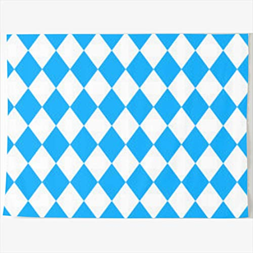 Armko Tapestry, 80 x 60 Inches Diamond Bavarian Oktoberfest Checkered Flag Bavaria White Wall Hanging Tapestries Decor Home Bedroom Living Kids Girls Boys Room Dorm