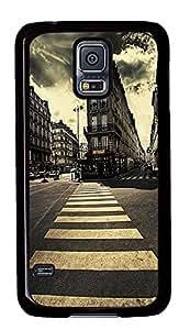 Samsung Galaxy S5 cheap cover Pedestrian Path PC Black Custom Samsung Galaxy S5 Case Cover