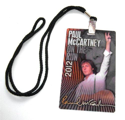 Paul McCartney Hologram Laminate 2012 Tour Lanyard