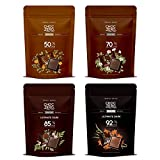 ChocZero's Dark Collection, Premium Dark Chocolate, Sugar Free, Low Carb. No sugar alcohols, All Natural, Non-GMO -4 Bags(50% Dark, 70% Dark, 85% Dark and 92% Dark, 40 pieces)