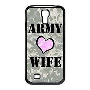 Proud U.S. Army Wife, Military Wife pattern for black plastic SamSung Galaxy S4 I9500 case