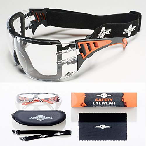 ToolFreak Rip Out Safety Glasses with Foam Padding,Protective Eyewear with Improved Vision For Men and Women,Impact and… 1
