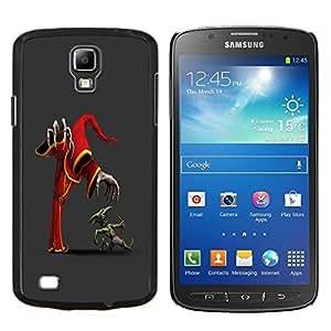 KLONGSHOP // Cubierta de piel con cierre a presión Shell trasero duro de goma Protección Caso - Monsters - Samsung Galaxy S4 Active i9295 //