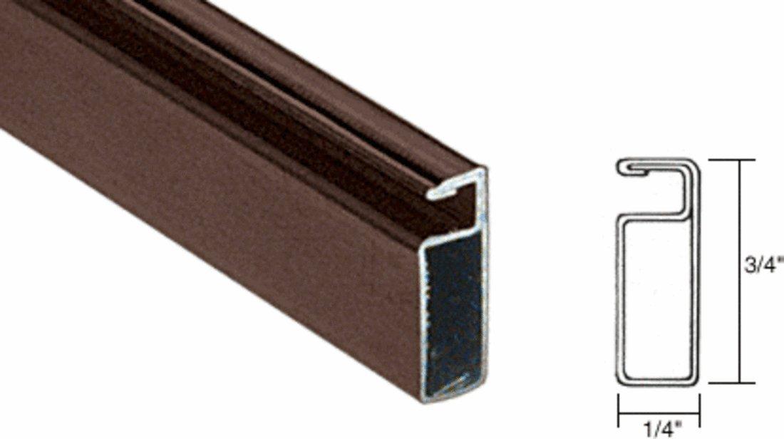 CRL Bronze Finish 3/4'' x 1/4'' Roll Formed Aluminum Screen Frame - 12 ft long