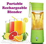 Gadget Hero's Portable Personal Single Serve Blender with Travel Lid. Rechargeable USB Juicer / Drink Bottle. Instant Smoothie Maker Ice Crusher.