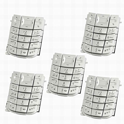 Ucland 5Pcs Repair Parts Keypad Keyboard Button Silver Tone for Nokia 3120 (Nokia Keypad Silver)