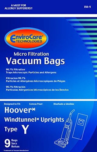 36 Hoover Windtunnel Upright Type Y Vacuum Bags By Envirocare (Micro-filtration) (36 Bags)