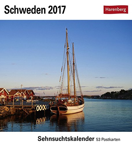 Schweden - Kalender 2017: Sehnsuchtskalender, 53 Postkarten