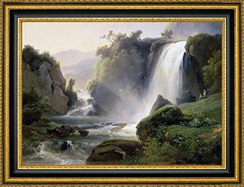 Tivoli Waterfall by Jean Charles Joseph Redmond - 35.25