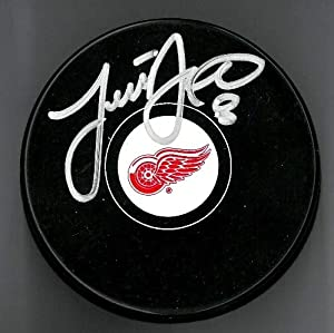 Justin Abdelkader Autographed Detroit Red Wings Souvenir Puck