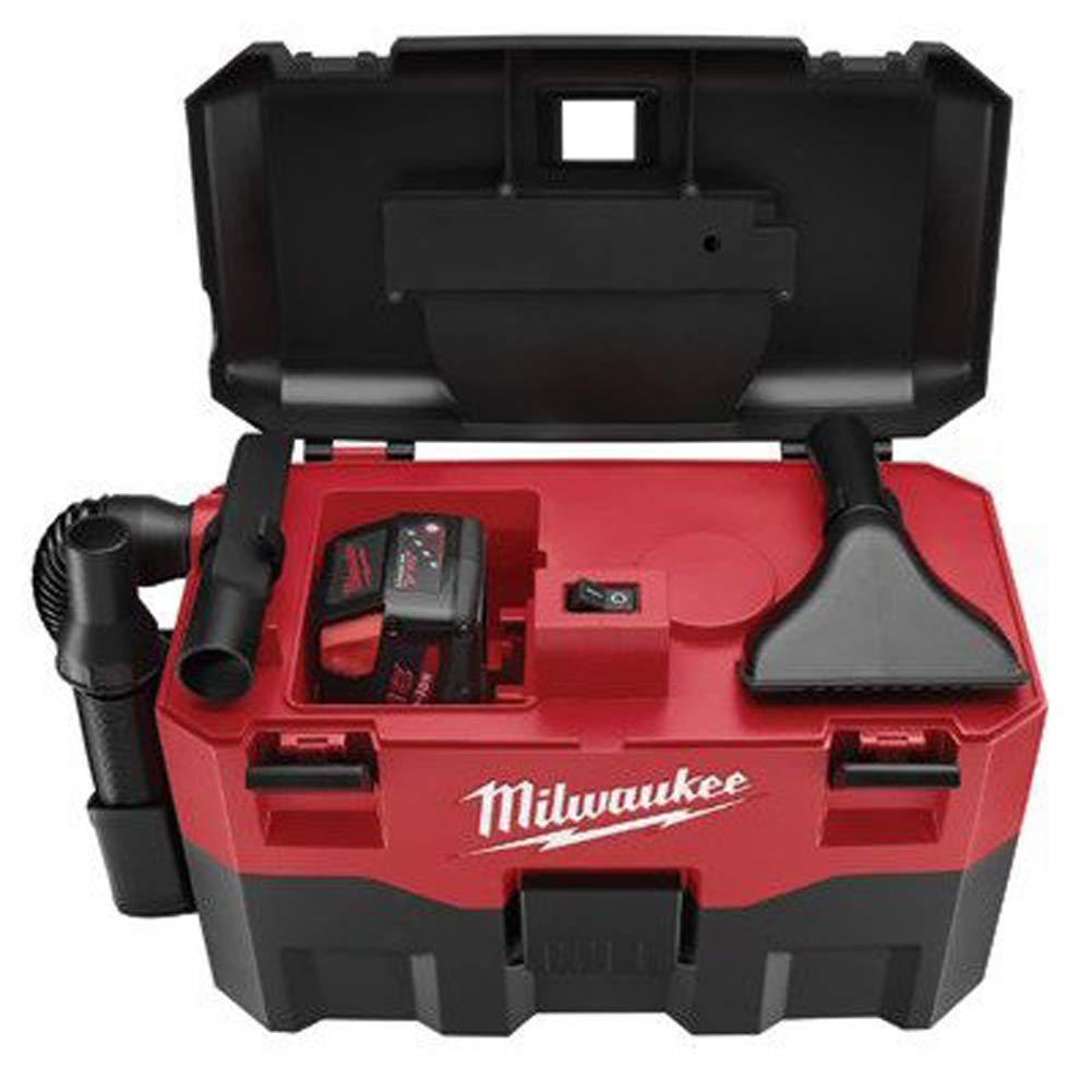 "MILWAUKEE ELECTRIC TOOL 0880-20 Cordless Lithium-Ion Wet/Dry Vaccum Cleaner, 15.75"" x 22.5"" x 11.5"""