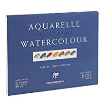 Clairefontaine Watercolour 300g Block 24x30cm HOT PRESS - 25 sheets