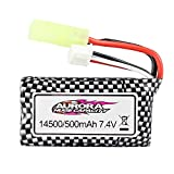 Hosim RC Cars Replacement Battery, 500mAh Li-ion Rechargeable Battery for Hosim 9130 9136 Truggy High Speed Truck Accessory Supplies