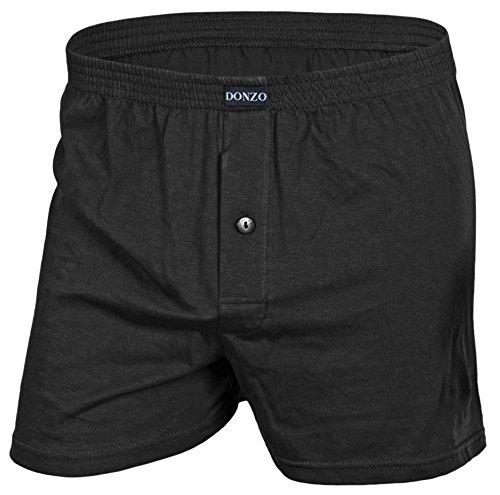 DONZO Herren Boxershorts American Style atmungsaktiv mit Vordereingriff, 10er Pack, Größe XXXL in Schwarz