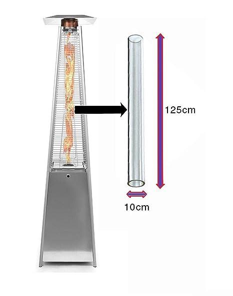 Reemplazo del tubo de vidrio para el calentador de patio de gas pirámide