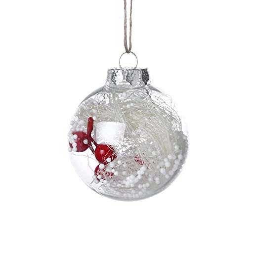 """Clearance! Ornament Balls Christmas Decorations Tree Ball 3.15""""/80mm  Clear Baubles For Holiday - Amazon.com: Clearance! Ornament Balls Christmas Decorations Tree"""