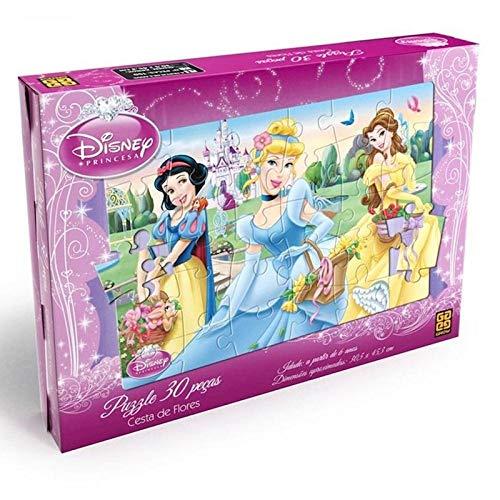 Quebra Cabeca Princesas Cesta De Flores Grow 02372