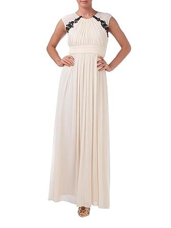 e20b43343b84 Affascinante donna festosa avorio a maniche corte applicazione per abiti da  sera per abiti da sposa matrimonio madre a forma di palla avorio 44   Amazon.it  ...