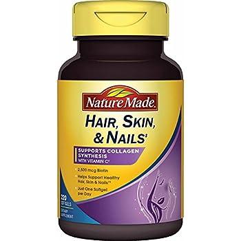 Amazon.com: Nature Made Hair, Skin, Nails with Biotin 2500 mcg, 220 ...