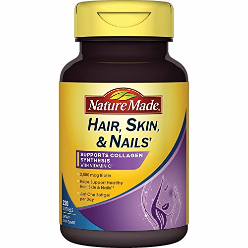 Nature Made Hair, Skin, Nails with Biotin 2500 mcg, 220 Count Softgels - Biotin 2500 Mcg