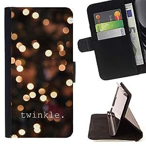 Momo Phone Case / Flip Funda de Cuero Case Cover - Luces de la ciudad Texto brillante Noche de Blur - Samsung Galaxy S6 Active G890A