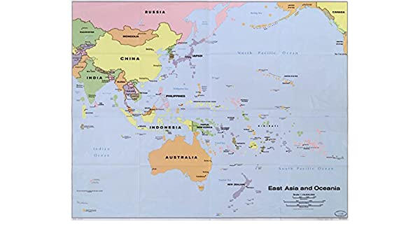 Amazon map poster east asia and oceania 24 x 19 posters amazon map poster east asia and oceania 24 x 19 posters prints gumiabroncs Choice Image