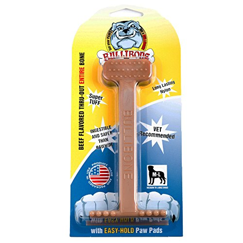 Bullibone Dog Chew Toys: Durable Dog Toys for Large Dogs and Aggressive Chewers. Long Lasting Beef Flavored Dog Chews Big Dogs Love