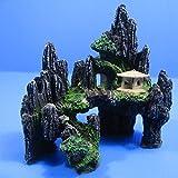 Rock Cave Bridge Mountain View Aquarium Ornament tree - Fish Tank Decor