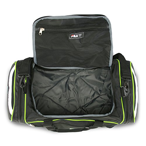 """5107MtNud0L - Fila Acer 25"""" Sport Duffel Bag, Black/Neon Green"""