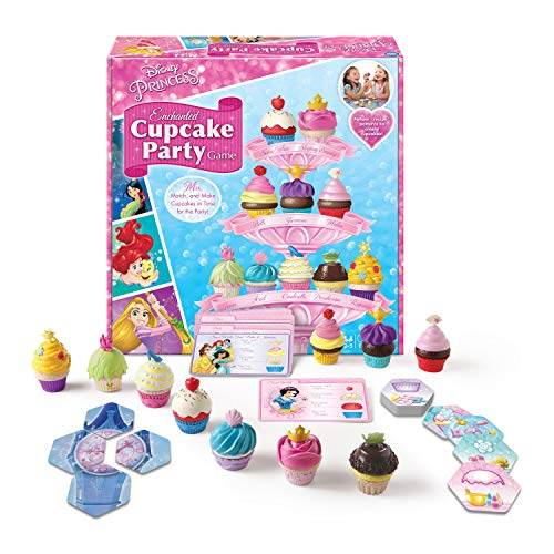 Wonder Forge Disney Princess Enchanted Cupcake Party Game For Girls & Boys Age 3 & Up - A Fun & Fast Matching Party Game You Can Play Over & Over (Pretty Pretty Princess Board Game For Sale)