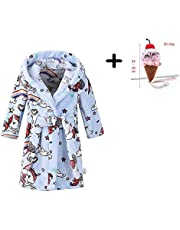 Long Sleeve Hooded Robes Cotton Bathrobe for Girls Boys Robe Children's Hooded Dressing Gown Pajamas Sleepwear and Plush Toy Age 5 6 7 8 9 10 11 12 13 14 Years (Size : 10-11 Years)