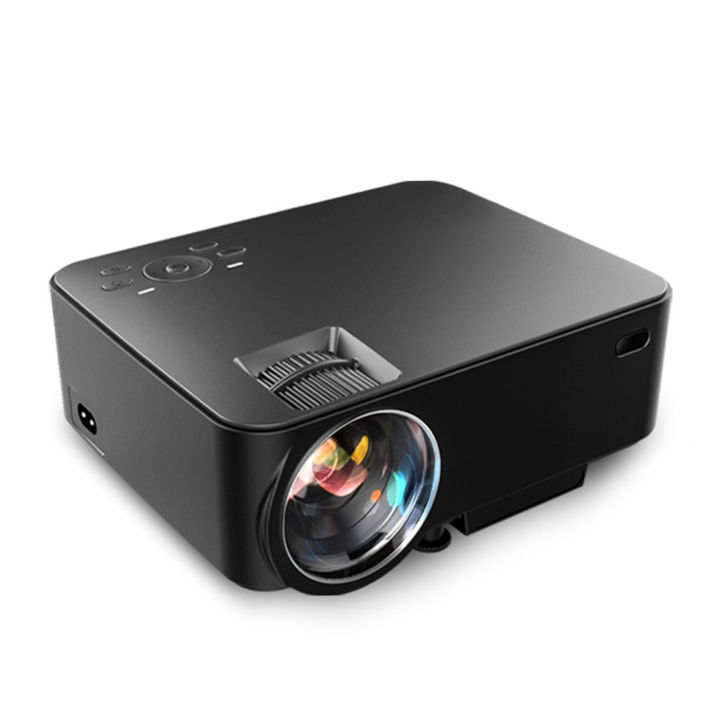 Aero Snail T30 1800 Lumens Mini Portable Video Projector(Warranty Included), Multimedia Home Theater, Support 1080P HDMI USB SD Card VGA AV for Blu-Ray DVD Player, PC, Laptop, Xbox PS3 PS4 HD Games