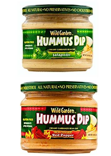 Spicy Hummus Dip, 2 - 10.74 Oz Jar Pack (Fire Roasted Pepper & (Jalapeno Hummus)