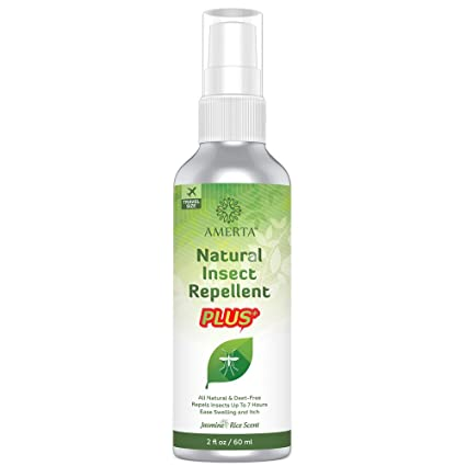 AMERTA Natural Insect Repellent PLUS, 2 oz Travel Size, DEET FREE, Repels  Mosquitoes, Gnats, Ticks & Other Biting Bugs, Relieves Itching and Swelling