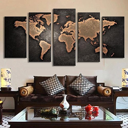 geves-5-pcs-set-modern-abstract-wall-art-painting-world-map-canvas-painting-for-living-room-home-dec