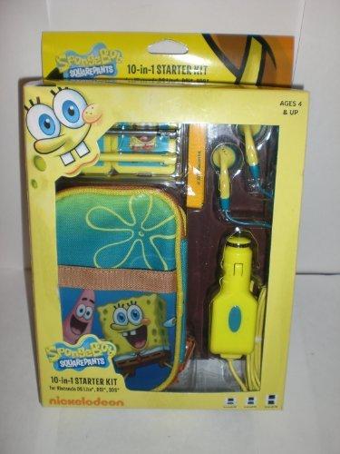 SpongeBob Squarepants 10-in-1 Starter Kit for Nintendo DS Lite, DSi, 3DS