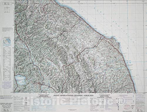 Historic Map | Joint Operations Graphic (Ground). | Perugia, Italia; San Marino 58in x 44in (Perugia Of Map)