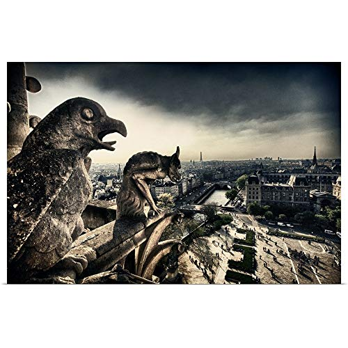 GREATBIGCANVAS Poster Print Entitled ATOP The Notre Dame Cathedral, Paris by Scott Stulberg 36