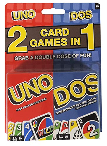 Mattel Uno Dos Card Game Combo - Both -