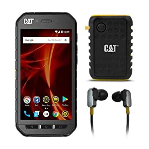 CAT PHONES S41 Rugged Waterproof Smartphone with ACTIVE URBAN Rugged Earphones and Power Bank