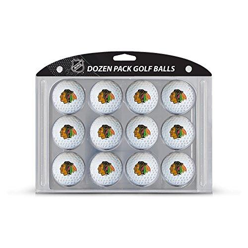 Team Golf NHL Chicago Blackhawks Dozen Regulation Size Golf Balls, 12 Pack, Full Color Durable Team Imprint