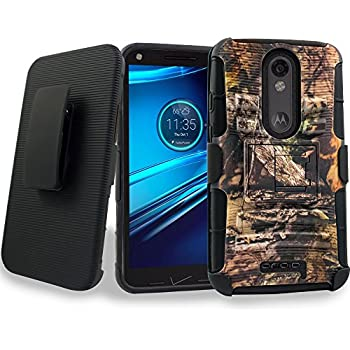 DROID Turbo 2 Holster Case, Mstechcorp Protective Case Cover with kickstand and Belt Swivel Clip