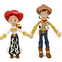 """Disney Pixar Toy Story JESSIE 16"""" & WOODY 18"""" Plush Dolls - Buzz & bullseye friends by Disney"""