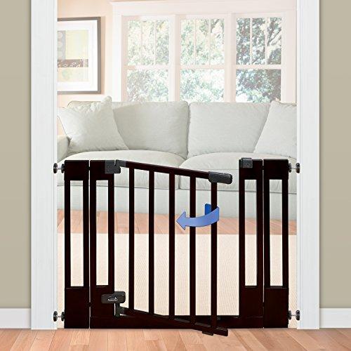 Summer Infant Multi Use Deluxe Wood Walk Thru Gate Dark Cherry Baby Safety Shop