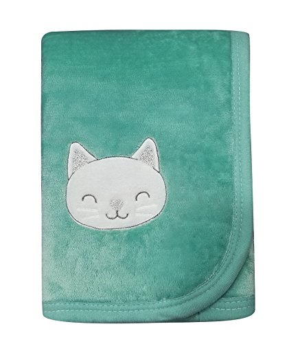 """Baby Receiving Blanket Swaddle Wrap Throw,Soft Warm Embroidered Plush Flannel Fleece Security Sherpa Blanket,Best Gifts for Boys and Girls,30""""×40"""""""
