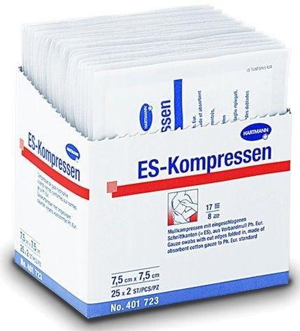 ES-Kompressen steril 7,5x7,5 cm 8fach, 25X2 St